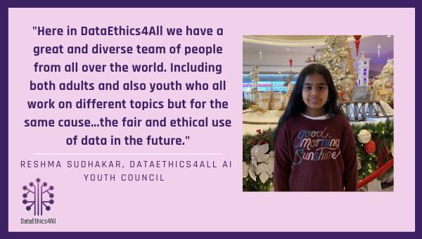 Reshma Sudhakar DataEthics4All Youth Leader Testimonial