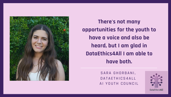 Sara Ghorbani DataEthics4All Youth Leader Testimonial