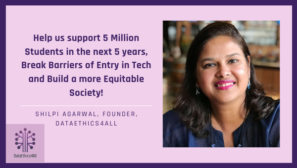Testimonial Help us support 5 Million students and break barriers of entry in tech!
