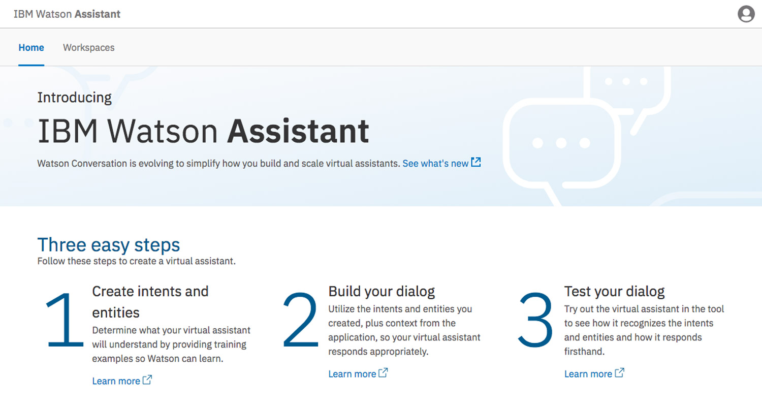 IBM Watson Assistant Product Screenshot 1 DataEthics4All AI Society