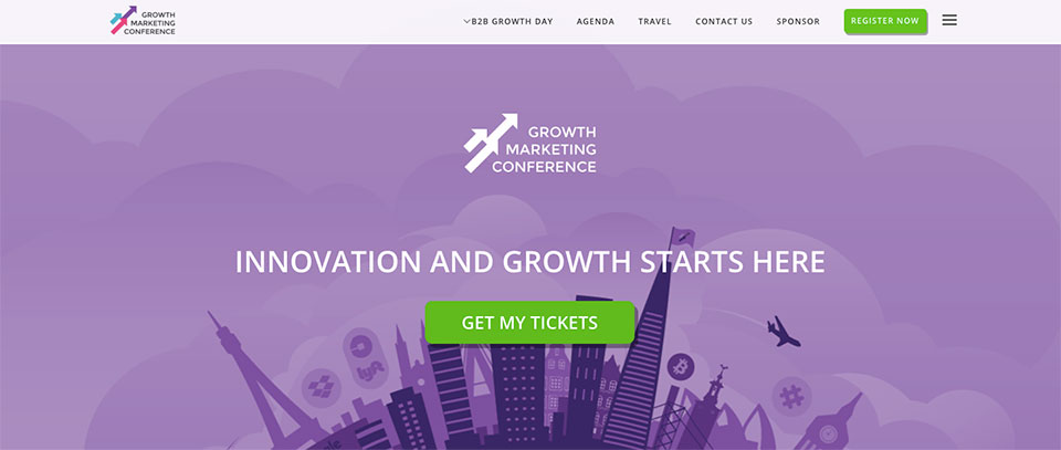 growth-marketing-conference landing page