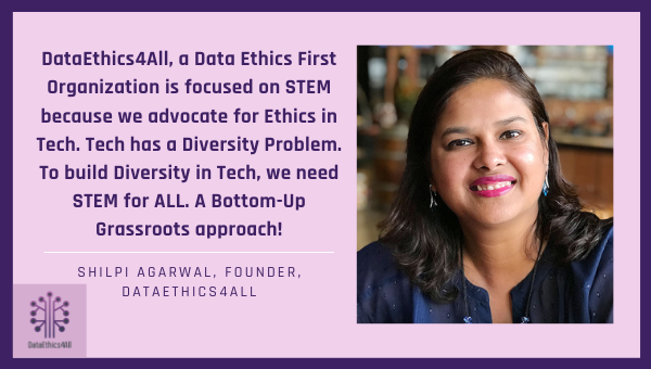 Why DataEthics4All, a Data Ethics First Organization is focused on STEM?